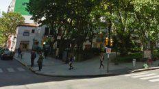 Uno de los ladrones fue atrapado en la plaza Pringles.