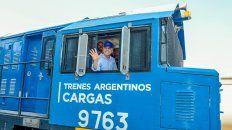 Macri inauguró hoy un nuevo ramal del Ferrocarril Belgrano Cargas.