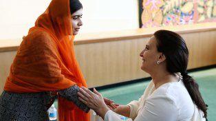 La vicepresidenta estuvo en la Asamblea General de la ONU y luego se reunió con la activista bloguera pakistaní.