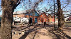 Los galpones del Centro de la Juventud, el lugar de donde los trapitos robaron los cables.