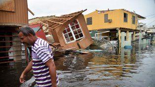 María dejó destrucción e inundaciones en la capital puertorriqueña.