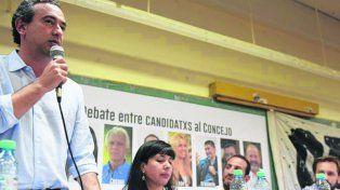 Discusión. Javkin participó esta semana de un debate en la UNR.