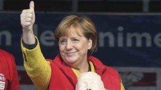 Imbatible. Angela Merkel