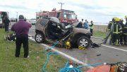 Tres muertos en un choque múltiple en la ruta 33, entre Amenábar y Rufino