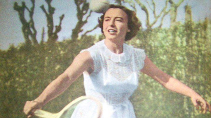 Mary Terán fue una de las más destacadas tenistas argentinas