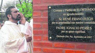bendición. La construcción del refugio de la Virgen fue donada por el empresario René Francovigh.