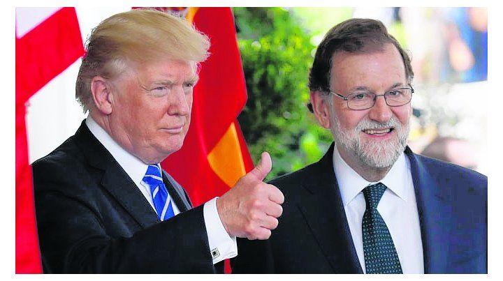 Espaldarazo. Trump recibió en visita oficial a Rajoy en la Casa Blanca.