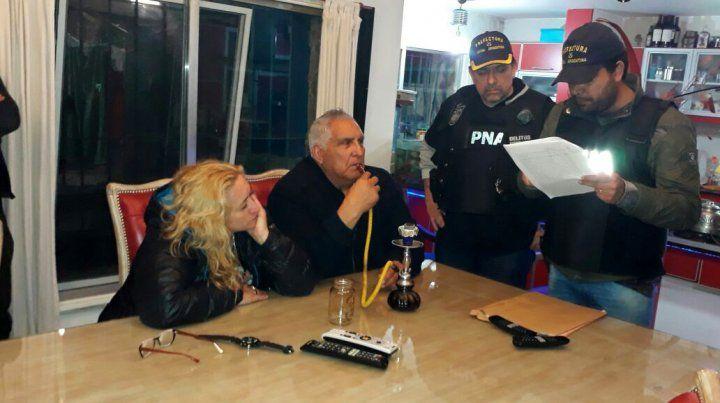 Efectivos de Prefectura durante la detención del sindicalista Pata Medina