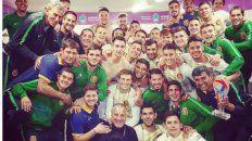el festejo intimo en el vestuario de central tras el gran triunfo ante boca por copa argentina