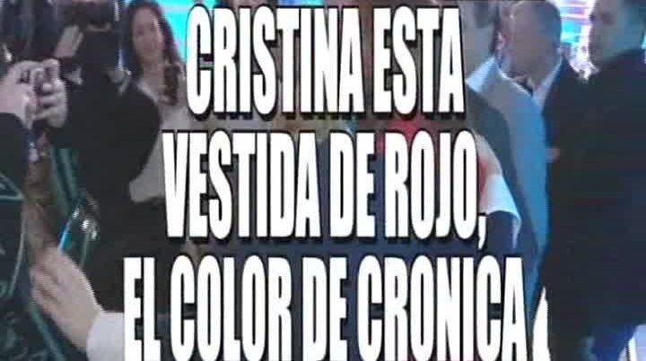 El show de las placas de Crónica durante la nota de Cristina con Chiche Gelblung