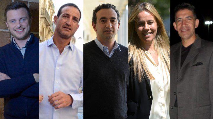 Los candidatos a concejales que participarán del debate.
