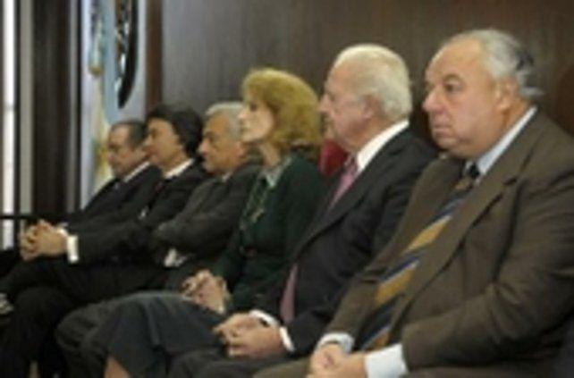 ministros. Cuatro integrantes de la corte santafesina firmaron el dictamen que avanza en el juicio a Los Monos.