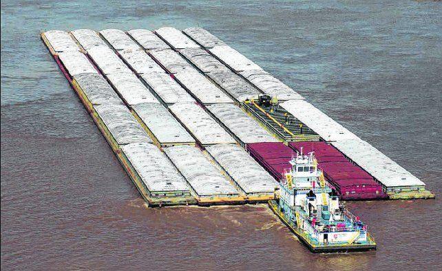 grano importado. La mercadería originada en Paraguay es la que ingresa en mayor volumen al país por la hidrovía.