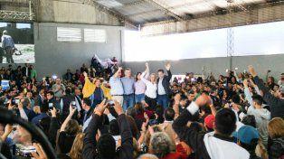 Macri junto a los candidatos riojanos.
