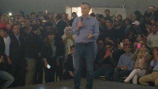 Macri durante el acto en La Rioja.