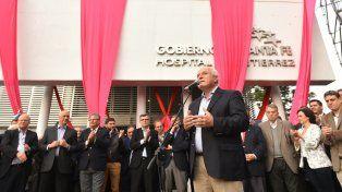 El gobernador Lifschitz durante la ceremonia de inauguración del flamante hospital Doctor Alejandro Gutiérrez.