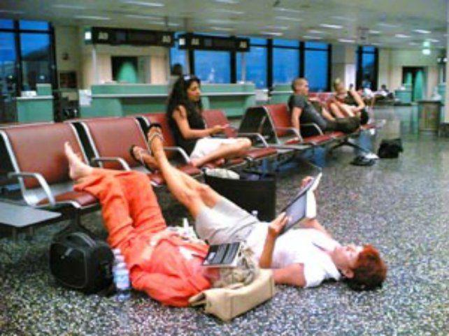 En un aeropuerto del viejo continente