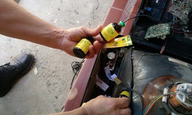 Secuestro. Frascos de ketamina contrabandeados en un auto en junio.