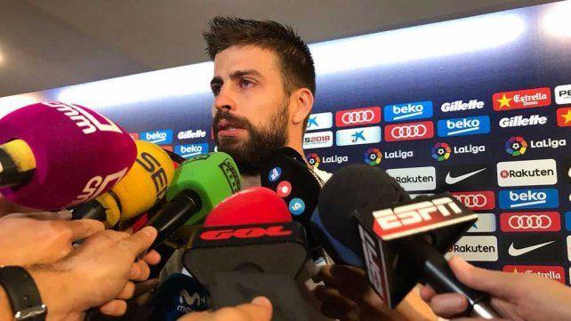 Piqué dijo que si es un problema para la selección de España renunciará antes del Mundial