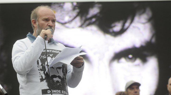 El mensaje. Sergio Maldonado fue el principal orador en el acto en Plaza de Mayo.