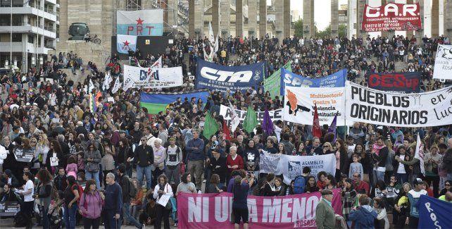 Una multitud. Los rosarinos se unieron al reclamo por la aparición con vida de Maldonado.
