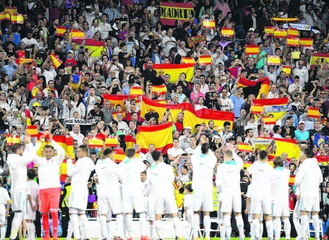 En Madrid. El Real jugó envuelto en un clima antirreferéndum.