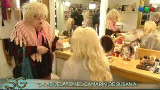 La Abuela recorrió el camarín de Susana y ambos mostraron la intimidad de la diva.
