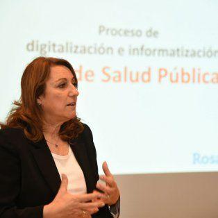 La intendenta presentó hoy el sistema de digitalización de diagnóstico por imágenes.