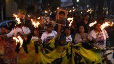 La imagen de una de las marchas en reclamo de justicia por la muerte de Casco.