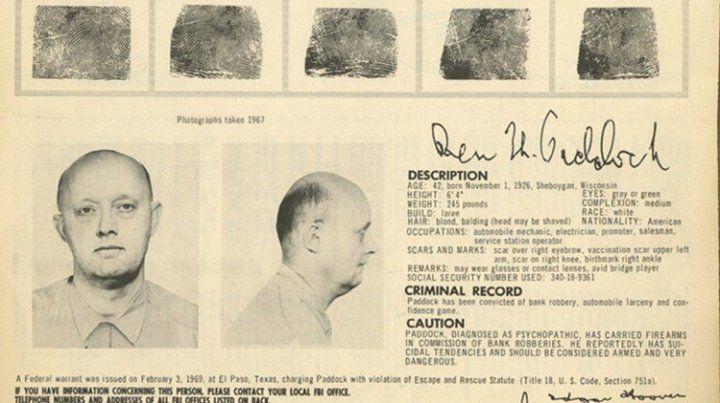 El padre del tirador de Las Vegas fue uno de los 10 hombres más buscados por el FBI