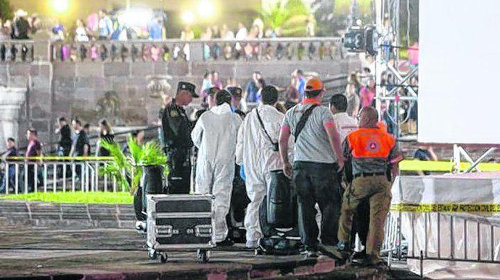 Tragedia. El accidente interrumpió las funciones en el Festival Santa Lucía