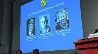 los ganadores del nobel. Los médicos estadounidense Jeffrey Hall