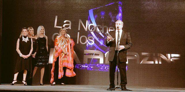 El gerente general del diario La Capital recibió el premio en la tradicional ceremonia.