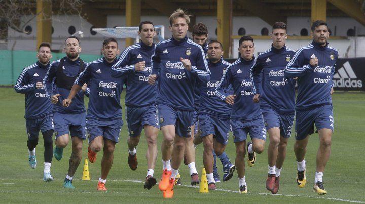 La selección entrenó hoy con vistas al partido del jueves ante Perú en la Bombonera.