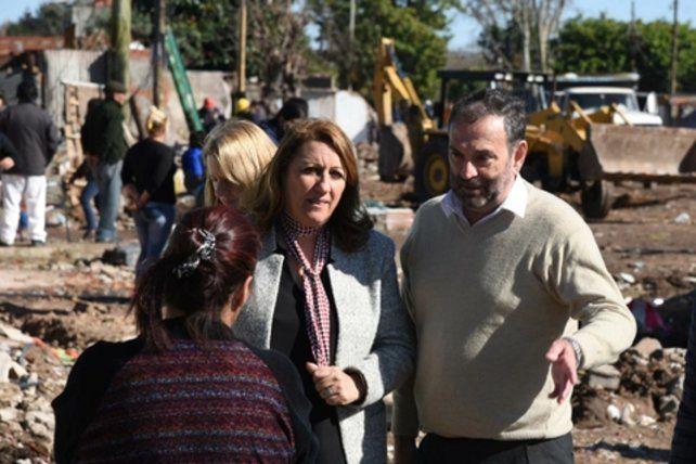 escenario. La intendenta repasó el trabajo que su administración desarrolla en el Cordón Ayacucho.
