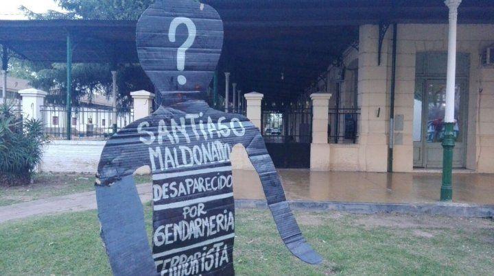 Reclamo. Los manifestantes apuntaron contra Gendarmería por la desaparición de Santiago Maldonado.
