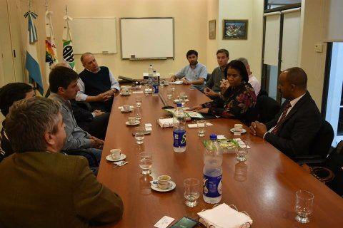 reunión. Los referentes cubanos estuvieron en la sede de AFA.