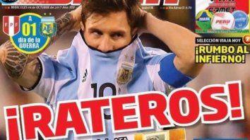 la prensa peruana denuncia que el partido entre argentina y peru podria estar arreglado
