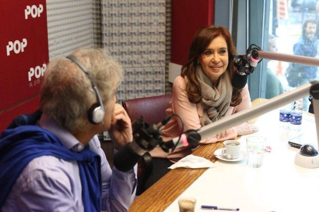 La expresidenta Cristina Fernández habló con Beto Casella en Pop Radio.