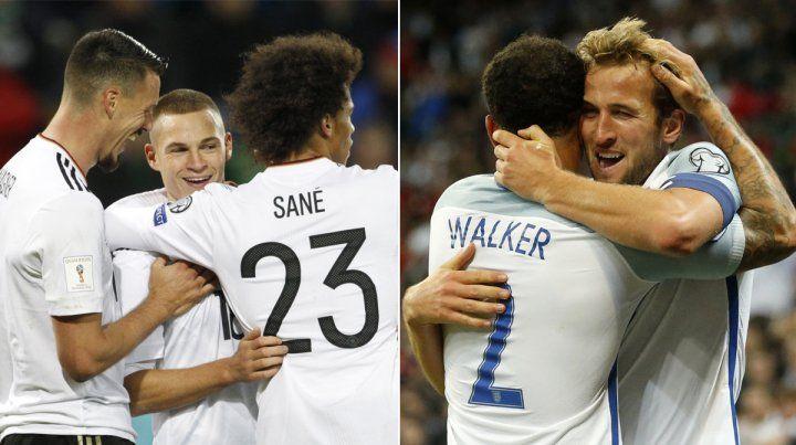 Clasificados. Alemania e Inglaterra sacaron boleto para el próximo Mundial de Rusia 2018.