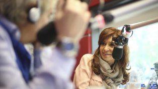 encuentro en el estudio. Cristina fue entrevistada ayer por el periodista Beto Casella.