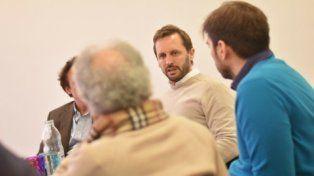 mesa local. Martín Rosúa se reunió con empresarios rosarinos.