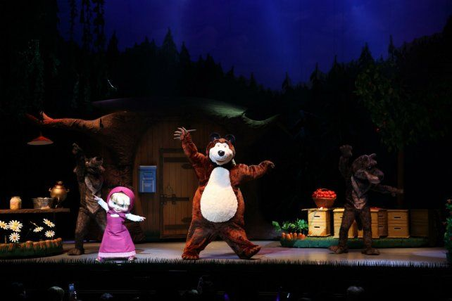 Los chicos podrán ver cara a cara a los personajes de Masha y el Oso en las dos funciones locales.