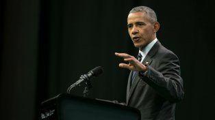 Expositor vip. Obama hizo un llamado a reducir la contaminación.