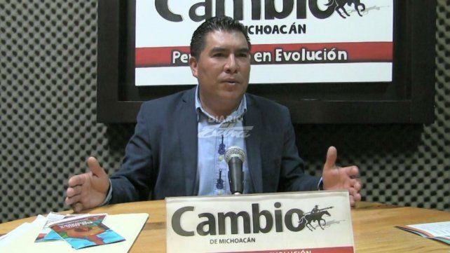 Stalin Sánchez. El alcalde de Paracho ultimado ayer en su casa..