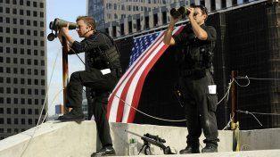 En alerta. Francotiradores durante un operativo en Nueva York.