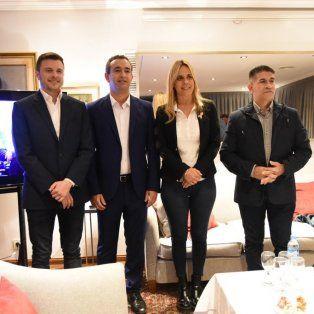 López Molina, Javkin, León y Trasante, en la pose para la foto previa.