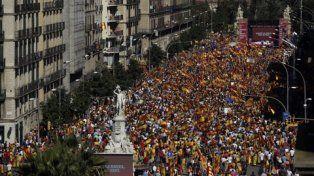 masiva. Los catalanes moderados salieron en masa a las calles