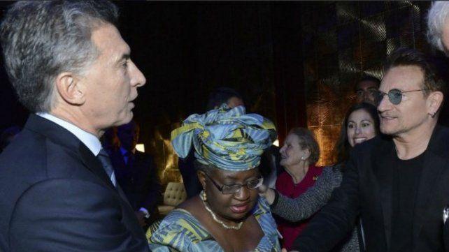Macri recibe en la Casa Rosada a Bono, líder de U2