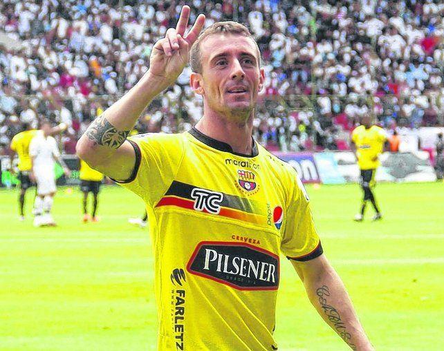 Kitu de acá. Damián Díaz jugó 26 partidos en Central cuando era pibe. Hoy es ídolo en Barcelona de Guayaquil.